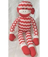 GANZ In Stitches 16 Inch Holiday Red And White Monkey Age 3 Plus - $16.00