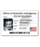 OSCAR GOLDMAN SIX MILLION DOLLAR MAN NAME BADGE HALLOWEEN COSPLAY PIN BACK - $13.85