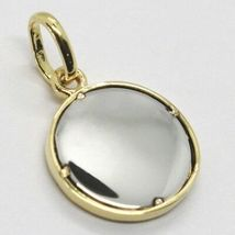 White Yellow Gold Pendant 750 18k, Basketball, Ball, Made in Italy image 3