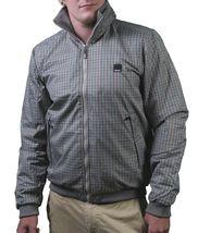 Bench UK Mens Gray Plaid Gaze Zip Up Winter Jacket with Fleece Lining NWT image 3