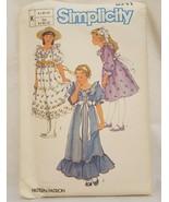 Easter Dress Summer Girls Size 8 10 12 Simplicity 6711 Sewing Pattern Un... - $16.99