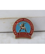 Vintage Hockey Pin - 2000 World Championships St. Petersburg - Stamped Pin  - $19.00