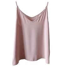 Women V Neck Sleeveless Strap Chiffon Top Camisole Summer Solid Chiffon Tank Top image 8