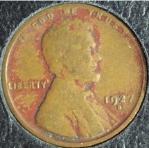 1927-D Lincoln Wheat Penny G #165 image 1