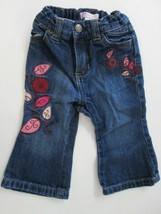 Old Navy flower leaf applique jeans SIZE 6-12 MONTHS - $4.90