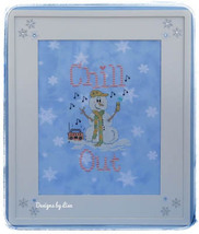 Chill Out snowman winter cross stitch chart Designs by Lisa - $7.20