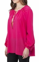 $1250 NWT YSL YVES SAINT LAURENT SIGNATURE PAYSANNE BLOUSE IN PINK SILK ... - $198.00