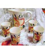 Vintage Ceramic Pitcher &  Tumblers - $25.00