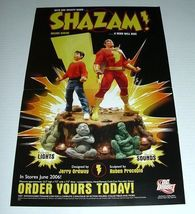 17 x 11 Shazam Captain Marvel DC Comics Direct deluxe statue comic promo poster - $40.00