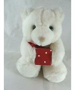 "Vintage Hallmark Bearer Of Gifts Teddy Bear 7"" Plush White Heartline w g... - $12.86"
