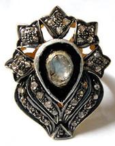 Victo./Vintage repro. .925 Sterling Silver 0.75Ct. Rose/Anti. Cut Diamon... - $170.41