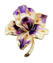 Scarf Shawl Deduction Crystal Flower Brooch Corsage Sweater Accessories Pins