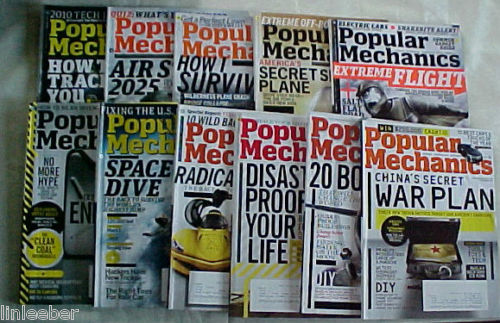 Primary image for 11)POPULAR MECHANICS MAGAZINES-2010-SCIENCE,TECHNOLOGY,AUTOMOTIVE,HOME,OUTDOORS