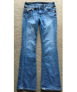 American Eagle Outfitters Kick Boot Super Stretch 0 Short Denim Jeans AE... - $24.74