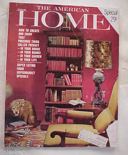 Primary image for THE AMERICAN HOME 1964-OCTOBER-FURNITURE, ANTIQUES vs.REPRODUCTIONS,PRIVACY,ADS