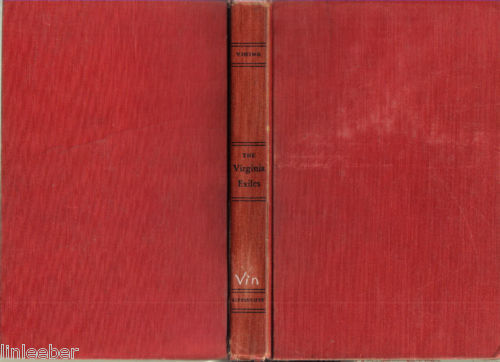 The Virginia Exiles-Elizabeth Vining HC 1955-BRITISH-PHILADELPHIA-QUAKERS-1777