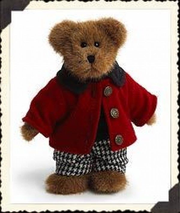 "Primary image for Boyds Bears ""Edmund"" - 8"" Plush Bear - #9175-21~ NWT~2003~ Retired"