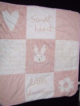 Sandra Magsamen Honey Bunny Lovey Blanket Messa... - $26.10