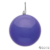 "Vickerman 2.4"" Purple Shiny UV Treated Ball Christmas Ornament - 24/Bag - $27.75"