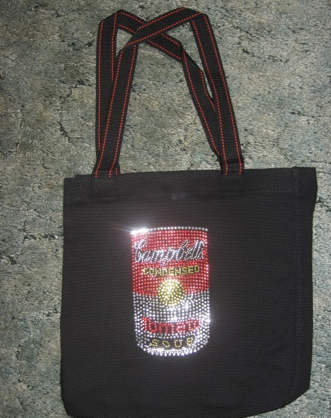 Campbell's Soup- Sequined Logo- Tote- New
