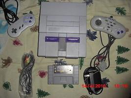 Nintendo SNES White Console (NTSC) with Dr. mario/tetris - $89.09