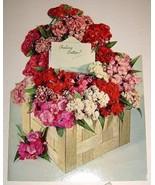 Beautiful Vintage Unused Floral Get Well Card with envelope - $5.95