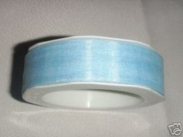 "1"" Organza sheer ribbon  Light Baby Sky Blue 50 yards - $9.00"