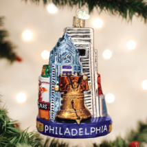 Old World Christmas Philadelphia The City Of Brotherly Love Glass Ornament 20092 - $25.88