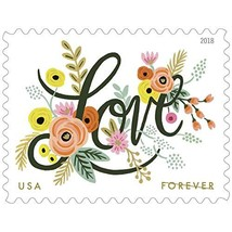 Love Flourishes 2 Sheets of 20 USPS First Class Forever Postage Stamps W... - $54.78