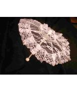 "12"" Lace baby or bridal shower umbrella white parasol - $3.99"