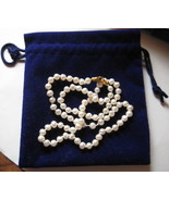 "17"" cultured pearl necklace with gold filled clasp - Brand new never used. - $65.00"