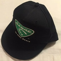 Sabre By John Deere Black Green Trucker Hat Made In USA Snapback Cap Cut... - $9.69