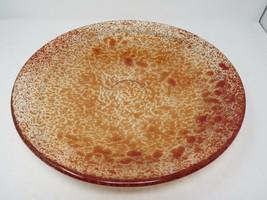 "Kosta Boda Art Glass Tellus Dish Red Clear 14.5"" Made in Sweden B2ES1 - $104.49"