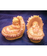 2 assorted Baby Girl in basinet favor in pink - $2.00