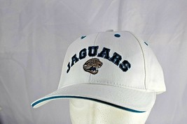 Jacksonville Jaguars White/Blue Trim NFL  Baseball Cap Adjustable - $23.99