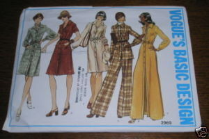 VOGUE PATTERN #2969 DRESS SZ 18-1/2 COMPLETE