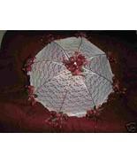 "32"" Bridal Shower Wedd burgundy  roses UMBRELLA PARASOL - $23.00"