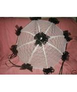 "32"" Bridal Shower Wedding  Black roses Umbrella Parasol - $24.95"