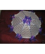 "32"" Bridal Shower Wedding  & purple  roses Umbrella - $24.95"