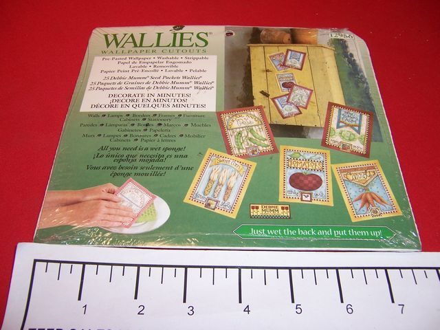 Wallies Wallpaper Cutouts Deddie Mumm Seed Packets 12956