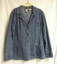 St. John's Bay Denim Jacket/Blazer  sz. Lg.  - $20.00