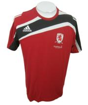 Adidas T Shirt Middlesbrough Football Club Garmin sz M? red black white ... - £9.83 GBP