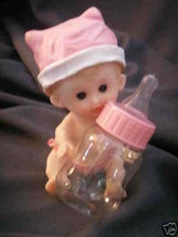 6 Girl babies with fillable baby bottle shower favor - $19.95
