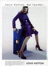 Louis Vuitton Epi Leather Purple 1997 Fashion Model Sensuality Ad - $9.99