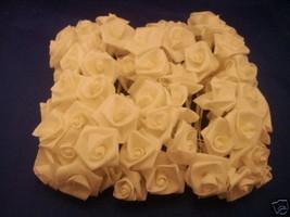 72 Large  Ribbon Roses wedding favor flower Ivory picks - $3.25