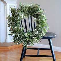 "White Statice and Olive Wreath - 24"" - €69,70 EUR"