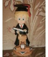 "Graduation boy  7"" cake top centerpiece poly resin - $4.00"