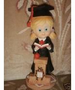 "Graduation girl  7"" cake top centerpiece poly resin - $4.00"