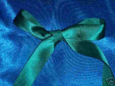 "Hunter green 7/8"" single faced satin ribbon 30 yrd"
