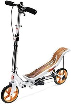 SpaceScooter Ride On White | Push Board Pump Action Kids Scooter with Ha... - $226.81